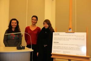 Wiola Wieczerniak, Ira Fiona Hennerkes und Melina Milz (v.l.n.r.) hielten Vorträge zum Werk Christa Wolfs